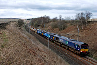 66302 (57010/57009) 6K27 1600 Carlsile - Chirk at Greenholme on Friday 11 April 2014