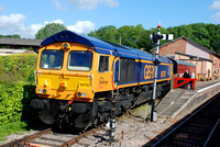 66763 stabled at Bishops Lydeard on Sunday 7 June 2015