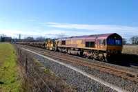 66150 7R08 1512 Bescot - Bushey at Whitacre Junction on Saturday 2 April 2016