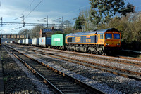 66750 4L18 1418 Trafford Park - Felixstowe at Cathiron on Thursday 31 March 2016