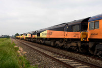 66847 in consist of 0X75 1400 Bescot - Westbury on Sunday 28 May 2018