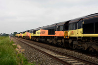 66848 in consist of 0X75 1400 Bescot - Westbury on Sunday 28 May 2018