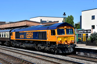 66788 5Z28 1100 Tyseley - Eastleigh at Leamington on Sunday 6 May 2018
