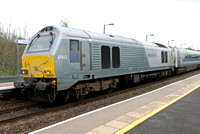 67012 on rear 1H53 1255 Birmingham Moor Street - Marylebone at Warwick Parkway on Wednesday 23 April 2014