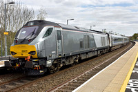 68011 on rear 1H45 1255 Birmingham Moor Street - Marylebone at Warwick Parkway on Tuesday 11 April 2017