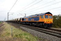 66732 6H78 1101 Doncaster to Peterborough at Frinkley Lane, Marston on Saturday 11 March 2017